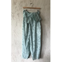 MARYSIA VENICE JUMPSUIT EYELET SWIMMER PRINT CLOUDS IN GREEN