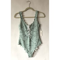 MARYSIA PALM SPRINGS TIE MAILLOT SWIMSUIT ONE PIECE IN SEA FOAM GREEN