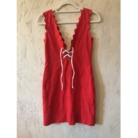 MARYSIA SWIM AMAGANSETT TIE COVER UP DRESS RED/WHITE