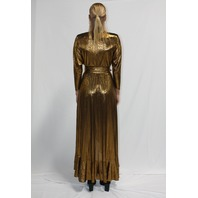 RETROFETE WAYNE DRESS IN GOLD SIZE XS