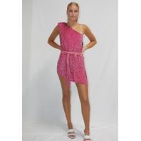 RETROFETE ELLA DRESS IN PASTEL PINK SIZE XS