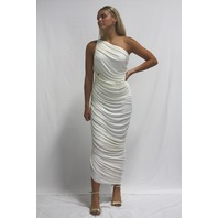 NORMA KAMALI DIANA GOWN IN IVORY SIZE M