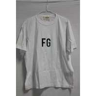 FEAR OF GOD SHORT SLEEVE FG 3M TEE IN WHITE SIZE XS