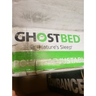 """GHOSTBED QUEEN ADJUSTABLE POWER BASE BED METAL/FABRIC CHARCOAL GRAY 60"""" X 80"""""""
