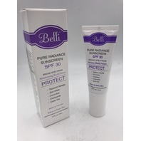 BELLI BEAUTY PURE RADIANCE SUNSCREEN SPF 30 1.5 FL. OZ. 44 ML.