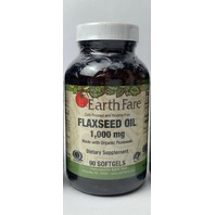 EARTH FARE FLAXSEED OIL 1,000 MG DIETARY SUPPLEMENT 90 SOFTGELS