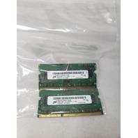 MICRON 4GB 2X2GB 1RX8 PC3-12800S LAPTOP MEMORY RAM