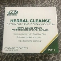 ADVOCARE HERBAL CLEANSE CAPLETS + PROBIOTIC RESTORE ULTRA CAPSULES, EXP 11/2020