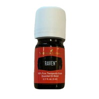 YOUNG LIVING RAVEN ESSENTIAL OIL BLEND - 5ML - 100% PURE THERAPEUTIC GRADE NEW