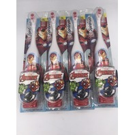 LOT OF 4 ARM & HAMMER KID'S SPINBRUSH AVENGERS ELECTRIC TOOTHBRUSH IRON MAN