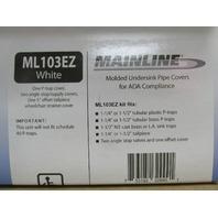 MAINLINE ML102EZ WHITE MOLDED HANDI-CAP UNDERSINK TRAP & VALVE COVER