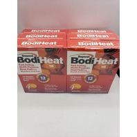 LOT OF 6* BEYOND BODIHEAT 12HR PAIN RELIEVING HEAT PADS 4-PACK 24 TOTAL EX 01/23