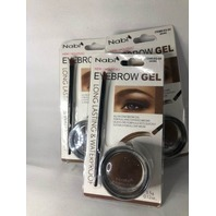 3 PK NABI EYEBROW GEL LONG LASTING & WATERPROOF BROWN 3.5 G 0.12 OZ BRUSH & GEL