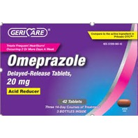GERICARE OMEPRAZOLE 20 MG DELAYED-RELEASE TABLET 42 PER BOX EXP 09/2020