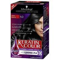 SCHWARZKOPF KERATIN COLOR PERMANENT HAIR COLOR CREAM, 1.0 BLACK ONYX