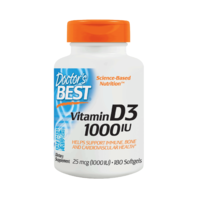 DOCTOR'S BEST VITAMIN D3 25 MCG (1000 IU) 180 SOFTGELS (EXP. 11/2022)