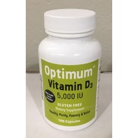 OPTIMUM VITAMIN D3 5,000 IU 100 CAPSULES EXP 05/2022