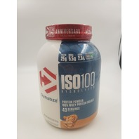 DYMATIZE PEANUT BUTTER ISO 100 HYDROLYZED PROTEIN POWDER 100% WHEY PROTEIN 43 SERVINGS