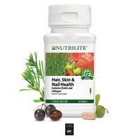 NUTRILITE HAIR SKIN & NAIL HEALTH 60 TABLETS BIOTIN & COLLAGEN EXP 08/2021