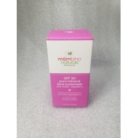 SPF 30 PURE MINERAL FACE SUNSCREEN CORAL REEF SAFE ZINC OXIDE & RASPBERRY 1.7OZ