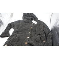 YOINS WOMENS BUTTON UP HOODED FLEECE 12