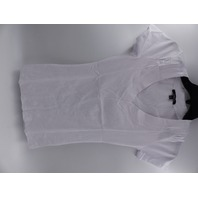 AMBIANCE 65056 WHITE TEE VNECK WOMENS SIZE S