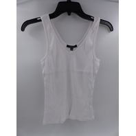 AMBIANCE 72199 WHITE RIBBED TANK TOP PACK OF 2 WOMENS SIZE L