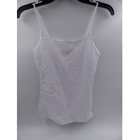 AMBIANCE 63000 WHITE TANK TOP WOMENS SIZE S