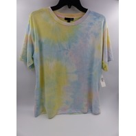 AQUA 16694 PINK TIE-DYE OVERSIZED PULLOVER TOP WOMENS SIZE M