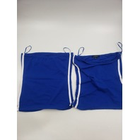 AMBIANCE 71016 BLUE SPAGHETTI STRAP TANK TOP SMALL PACK OF 2