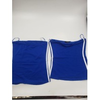 AMBIANCE 71016 BLUE SPAGHETTI STRAP TANK TOP MEDIUM PACK OF 2