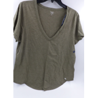 ABERCROMBIE & FITCH 639341771 RELAXED VNECK TEE GREEN WOMENS SIZE XL