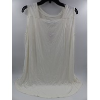 LEANI WHITE SCOOP NECK TANK TOP WOMENS SIZE XL