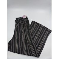 FULL CIRCLE TRENDS X5C5208C PLUS SIZE BLACK STRIPED PANTS WOMENS' SIZE 2X