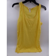 AMBIANCE 66000XL PLUS SIZE YELLOW RIBBED TANK TOP WOMENS SIZE 1X PACK OF 2
