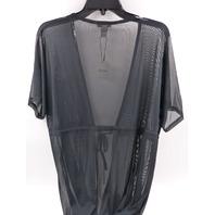 REVAMED JJ09-5241 BLACK SHEER ROBE WOMENS SIZE XL