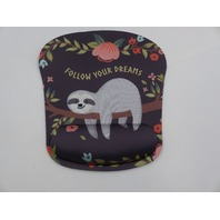 PSO1 X002JBALPN BROWN SLOTH ERGONIC RAISED MEMORY FOAM MOUSE PAD W/WRIST REST