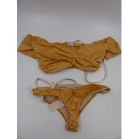 HOUSE OF CB SBB0128 BARCELONA GOLD 2 PEICE SWIMWEAR WOMENS SIZE L