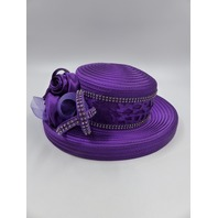 CURVES OF CUTWORK BY EY SIGNATURE T5131 CHURCH HAT IMPERIAL PURPLE