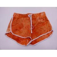 LV & LOTTIE 00412225015 ORANGE CREAM SHORTS WOMENS SIZE XL