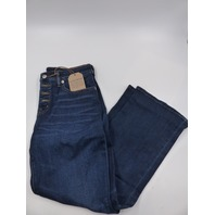 LUCKY BRAND 7WW1027 MID RISE AVA CROP MINI BOOT ABBOT WOMENS JEANS SIZE 8/29R