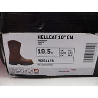 "WOLVERINE W201178 HELLCAT 10"" TABACCO ULTRASPRING WELLINGTON MENS SIZE 10.5"