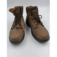 "GEORGIA BOOT G6644 FLXPOINT 6"" CT BOOT-M STEEL TOE WORK BROWN MENS SIZE 12W"
