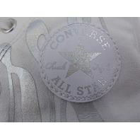 CONVERSE 566176F CHUCK ALL STAR LOGO PRINT HIGH TOP SNEAKER WHITE WOMENS SIZE 9