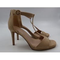 KELLY & KATIE KK-CONRADD NUDE MICROSUEDE HIGH HEEL SANDALS WOMENS SIZE 8.5