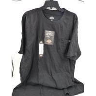 DICKIES WS436BK SHORT SLEEVE POCKET T-SHIRT BLACK MENS SIZE 3XLT