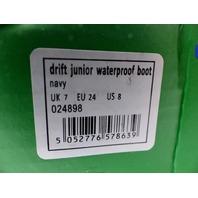 MOUNTAIN WAREHOUSE DRIFT JUNIOR WATERPROOF HIKING BOOTS NAVY TODDLER SIZE UK 7