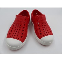 NATIVE JEFFERSON TORCH RED/SHELL WHITE KID SHOE SIZE C9
