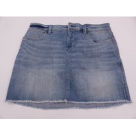 CARVE DESIGNS MAUI SKIRT RAW HEM BEASH BLUE WOMENS SIZE 4