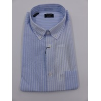 SELECTED HOMME 16071658 BUTTON-DOWN POCKET STRIPE SHIRT LIGHT BLUE MENS EU L